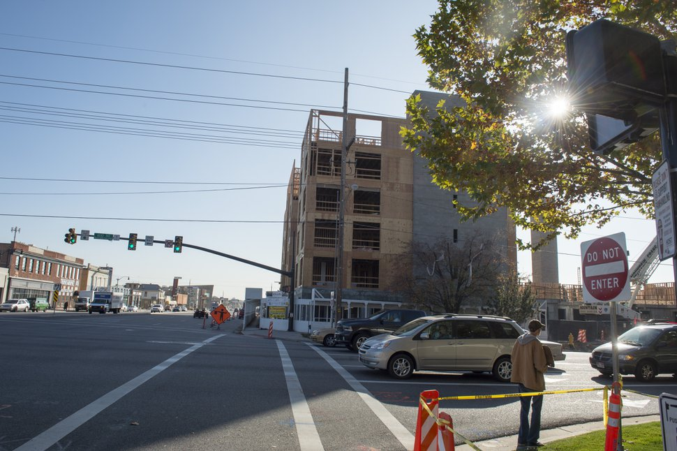 Rick Egan | The Salt Lake Tribune The 616 Lofts housing development under construction at 600 South State in Salt Lake City, Friday, November 11, 2016.