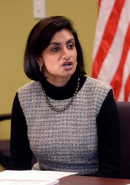 (Al Hartmann   The Salt Lake Tribune) The administrator for the Centers for Medicare and Medicaid Services, Seema Verma takes questions from seniors at AARP Utah State office in Midvale Monday Nov. 13. She is in Utah for a listening session to talk about about Medicare open enrollment, currently underway.