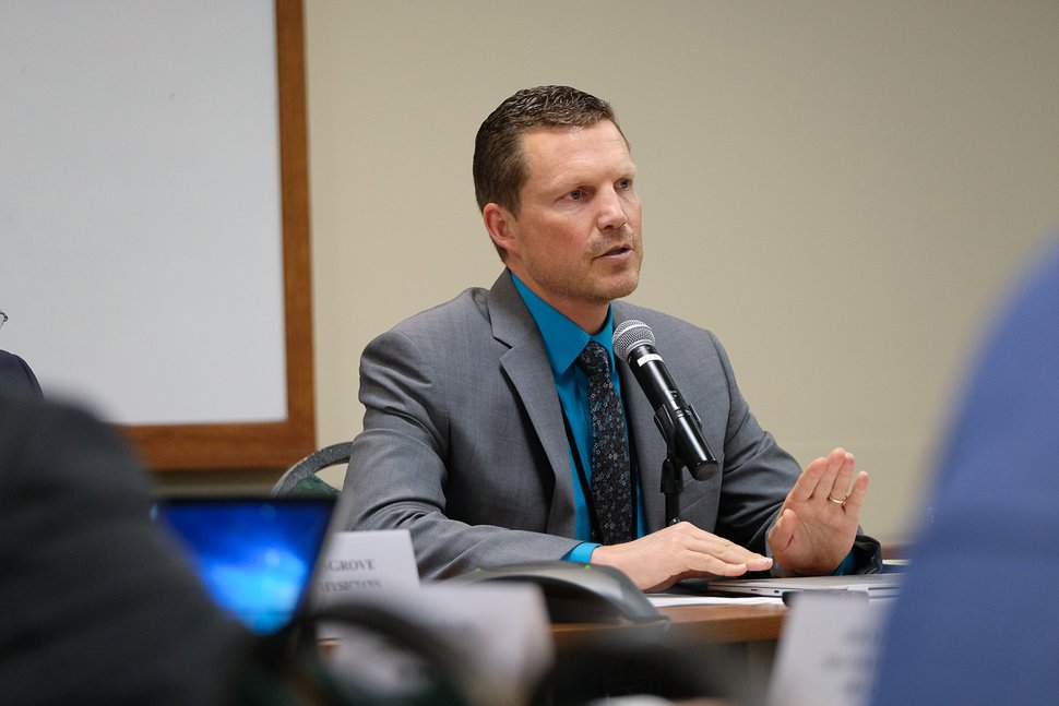 (Francisco Kjolseth | The Salt Lake Tribune) Then-Utah Medicaid Director Nate Checketts leads a meeting of the Medical Care Advisory Committee on June 6, 2018.