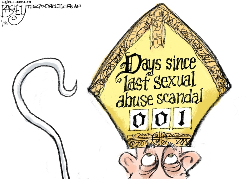 This Pat Bagley cartoon appears in The Salt Lake Tribune on Thursday, Aug. 30, 2018.