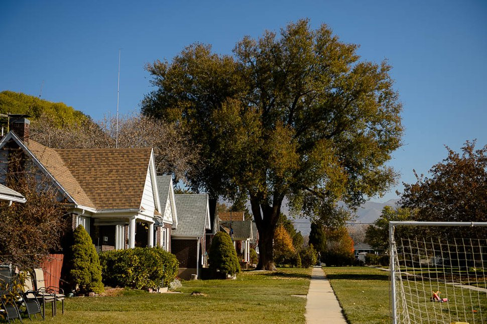 (Trent Nelson   The Salt Lake Tribune) Boulevard Gardens, a unique Salt Lake City subdivision near 1800 South between Main Street and West Temple, on Friday, Nov. 16, 2018. The homes were built between 1929 and 1931 and face into a large landscaped courtyard, which runs the entire length of the development.