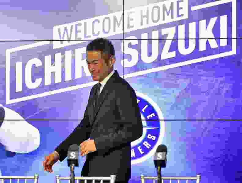 Ichiro back where it all started in MLB, with the Mariners