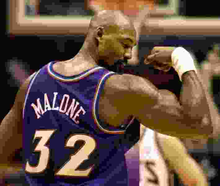 Former Jazz great Karl Malone does interview on NBA TV, and it was just amazing