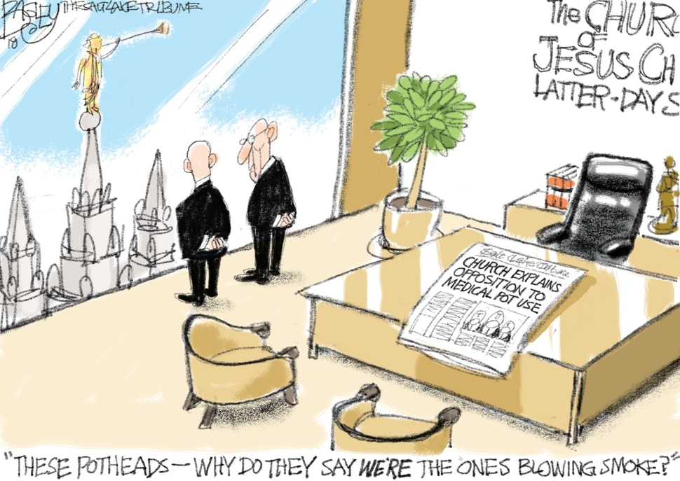 This Pat Bagley cartoon appears in The Salt Lake Tribune on Thursday, May 17, 2018.
