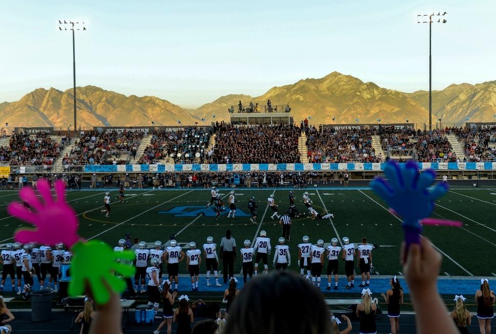Leah Hogsten   The Salt Lake Tribune West Jordan High School football team hosts Riverton High School, Thursday, Sept. 13, 2018 in West Jordan.