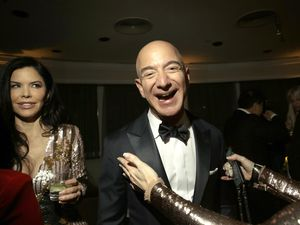 """(Elizabeth Lippman   The New York Times)  Jeff Bezos, CEO of Amazon, in Los Angeles, Jan. 6, 2019. """"Paying more taxes should be a sign that you made more money — and good for you. We don't want to ding you for succeeding but we're halfway to a plutocracy here,"""" writes The New York Times columnist Maureen Dowd."""