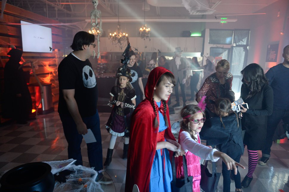 Francisco Kjolseth | The Salt Lake Tribune Domo, a computer software company based in American Fork, hosts a family-friendly Halloween party Monday, Oct. 31, 2016. Domo made a Salt Lake Tribune list of top places to work.