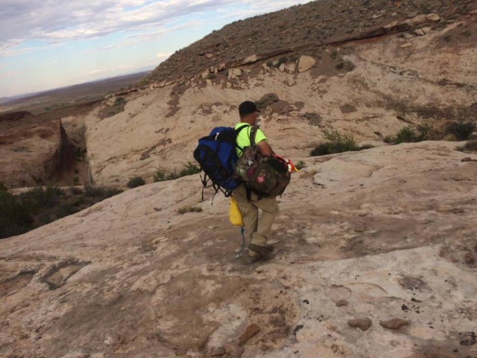 (Courtesy | Emery County Sheriff) A Salt Lake County woman is recovering after being wedged in and suspended for nearly 12 hours in a narrow portion of Zero Gravity Canyon in the San Rafael Desert.
