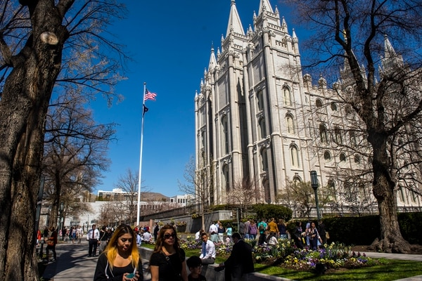(Chris Detrick | Tribune file photo) Temple Square is pictured during the 186th LDS General Conference in Salt Lake City in 2016.