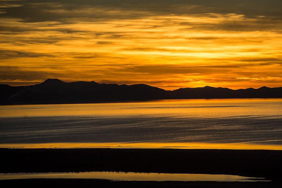 (Chris Detrick | Tribune file photo) Sunset over the Great Salt Lake as seen from Antelope Island, Feb. 17, 2015.