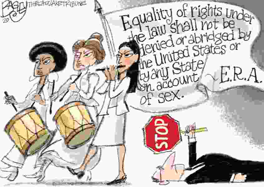 Bagley Cartoon: Spirit of '76—On to the Senate!