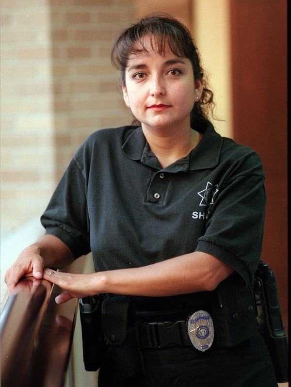 (Steve Griffin | The Salt Lake Tribune) Salt Lake County Sherrif's detective Rosie Rivera when she was the Law Enforcement Officer of the Year in 1999.