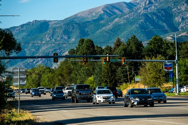 (Chris Detrick | The Salt Lake Tribune) Traffic on U.S. 89 in Davis County near Cherry Lane Thursday, Aug. 24, 2017.