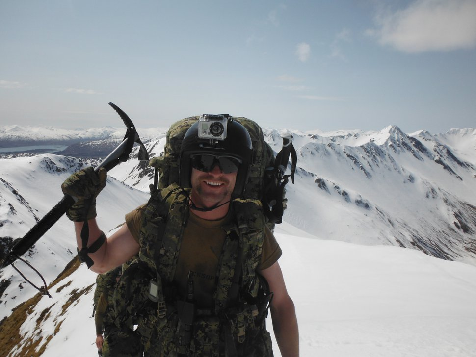 (Photo courtesy of Marty Jessop) Marty Jessop participates in Navy SEAL cold weather training in Alaska in 2012.