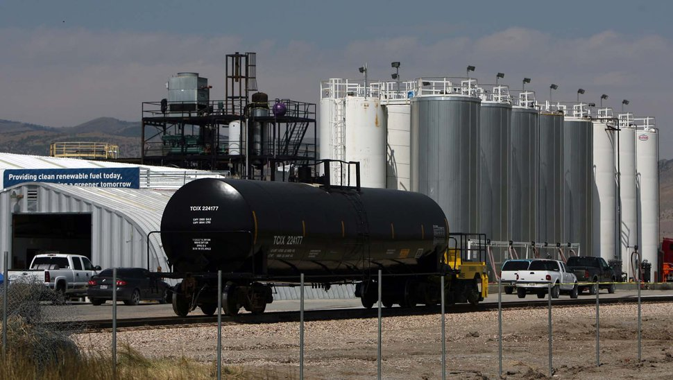 (Leah Hogsten | Tribune file photo) A newly placed rail line outside the WRE facility. The largest biofuel producer in Utah, Washakie Renewable Energy, held an open house in Plymouth on Thursday, September 1, 2011 to showcase its new production facility.