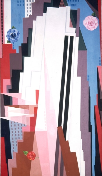 (Image courtesy Smithsonian American Art Museum) Georgia O'Keeffe's 1932 oil painting Manhattan is one of three works from the Smithsonian American Art Museum's collection that will be on display for a year, starting Oct. 25, at the Utah Museum of Fine Arts, both museums announced Monday, July 8, 2019.