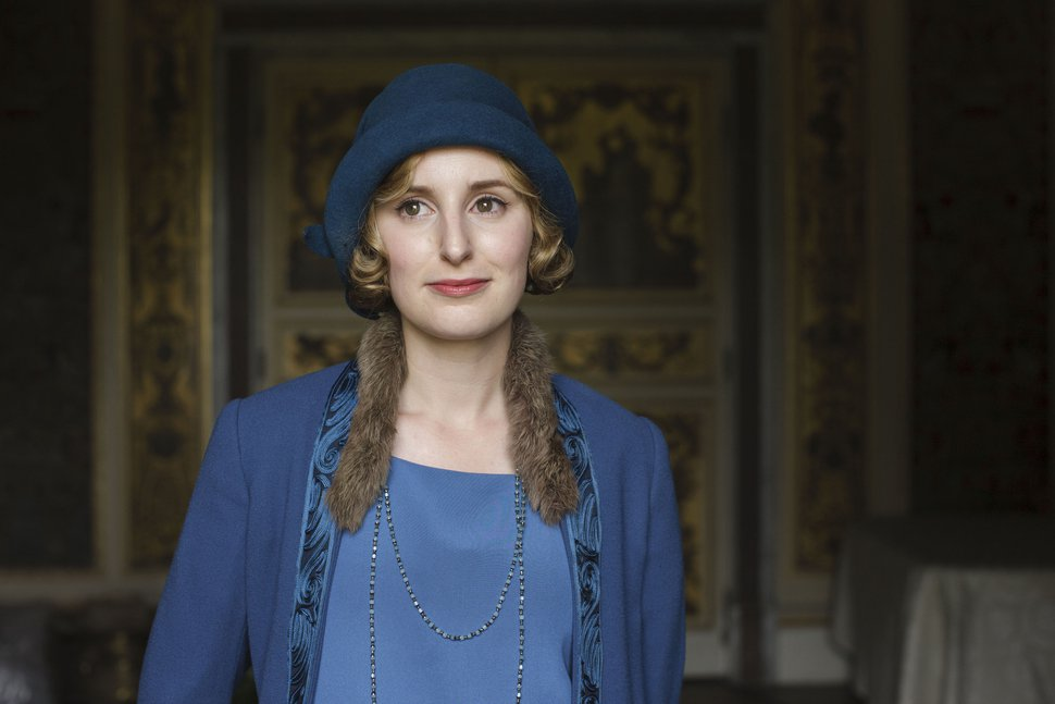 | Courtesy of Nick Briggs/Carnival Film & Television Limited 2015 for Masterpiece Laura Carmichael as Lady Edith in ÒDownton Abbey.Ó