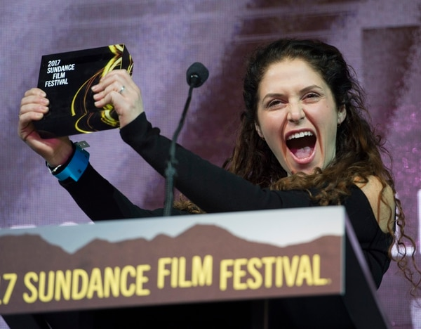 Rick Egan | The Salt Lake Tribune Amanda Lipitz accepts the U.S. Documentary Special Jury Award for Inspirational Filmmaking for her film ÒStep,Ó at the 2017 Sundance Film FestivalÕs Awards Ceremony, Saturday, January 28, 2017.
