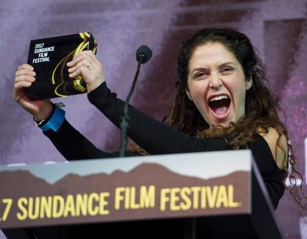 Rick Egan   The Salt Lake Tribune Amanda Lipitz accepts the U.S. Documentary Special Jury Award for Inspirational Filmmaking for her film ÒStep,Ó at the 2017 Sundance Film FestivalÕs Awards Ceremony, Saturday, January 28, 2017.