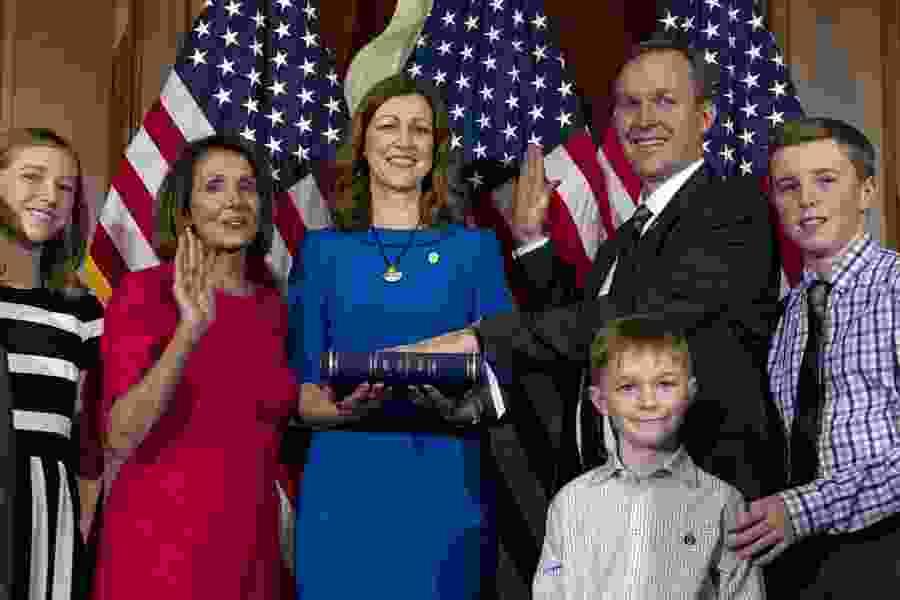 Ben McAdams sworn in as new U.S. House member. Utah's only Democrat in Congress casts his first vote against Pelosi as speaker