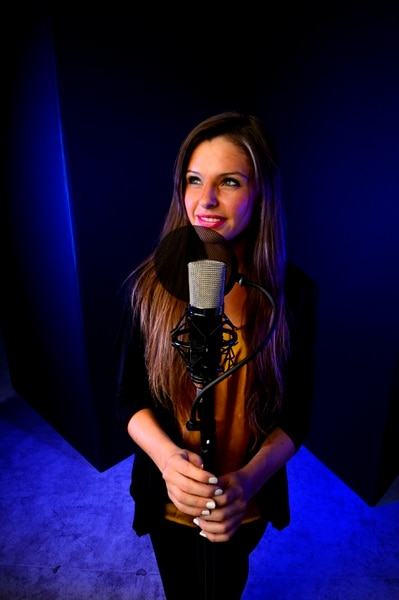 (Steve Griffin   The Salt Lake Tribune) BYU music student Nadia Khristean in the Salt Lake Tribune studio in Salt Lake City Wednesday August 2, 2017. Khristean performs songs and makes accompanying YouTube videos in partnership with local charities and cause-oriented organizations. She has made videos for such issues as refugee awareness, suicide prevention, homelessness, foster care and veterans affairs.