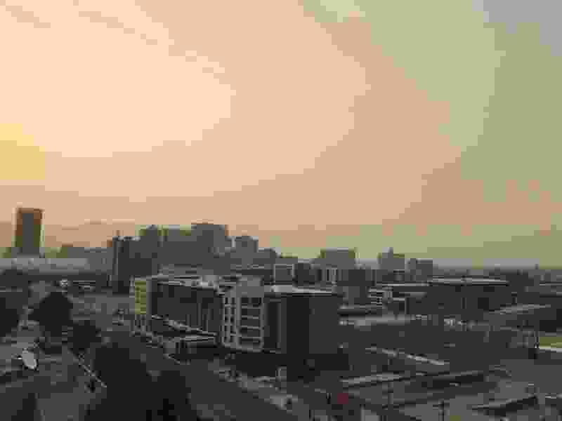 Where did Salt Lake City's mountains go? Haze is enveloping northern Utah.