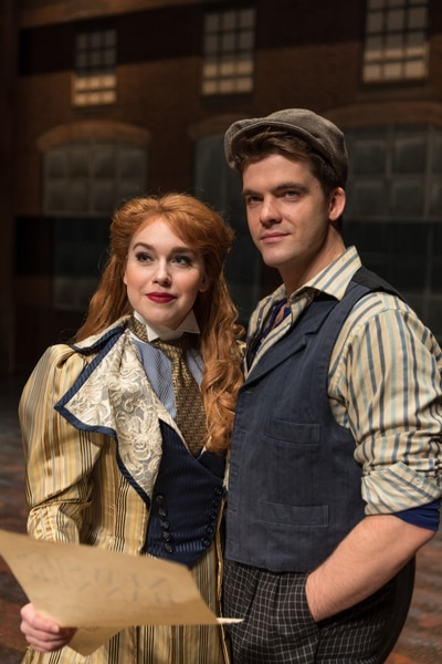 (Courtesy Pioneer Theatre Company) Nadia Vynn (Katherine) and Jonathan Shew (Jack Kelly) in Pioneer Theatre Company's production of Newsies, running Dec. 1-20 in Salt Lake City.