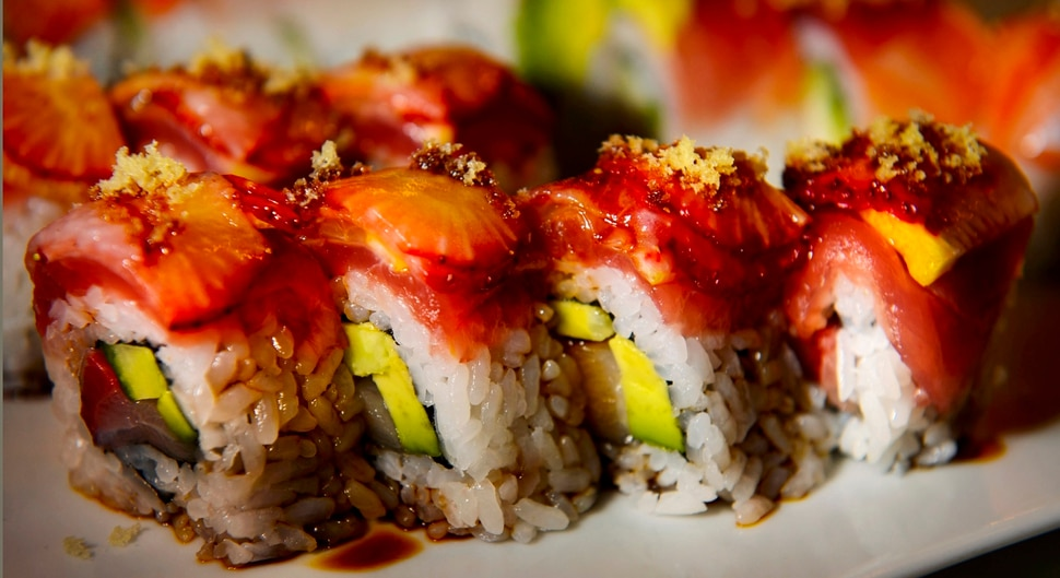 (Steve Griffin | The Salt Lake Tribune) The Orchid Roll at Soy's Sushi Bar & Grill in Murray.