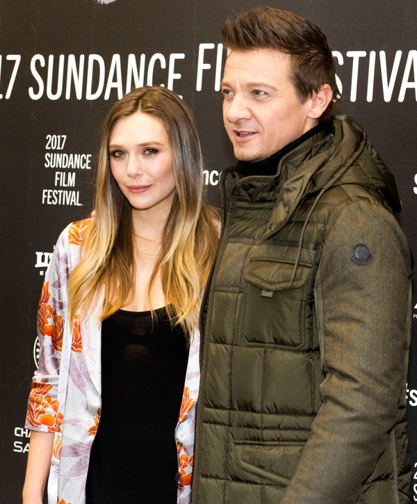 Rick Egan | The Salt Lake Tribune Elizabeth Olsen and Jeremy Renner at the Eccles Theatre for the world premiere of ÒWind RiverÓ at the 2017 Sundance Film Festival in Park City, Saturday, January 21, 2017.