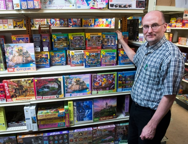 (Rick Egan | The Salt Lake Tribune) Owner Paul Hammond of Hammond Toys, which has been in business since 1954.