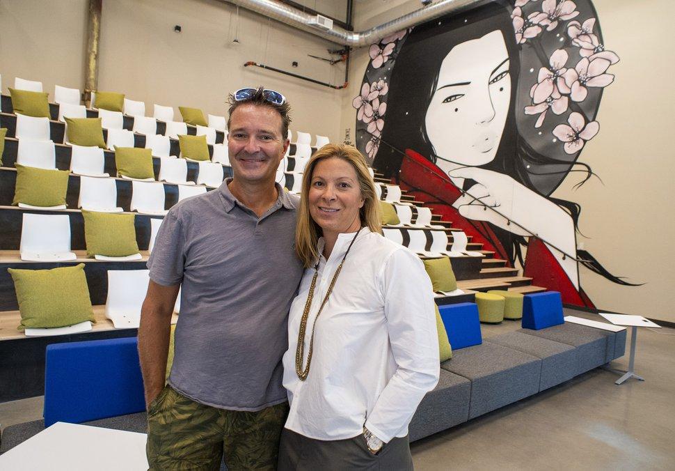 (Rick Egan   The Salt Lake Tribune) INDUSTRY founders, Jason and Ellen Winkler in their new office development in the Granary District in Salt Lake City, Thursday, Aug. 6, 2020.