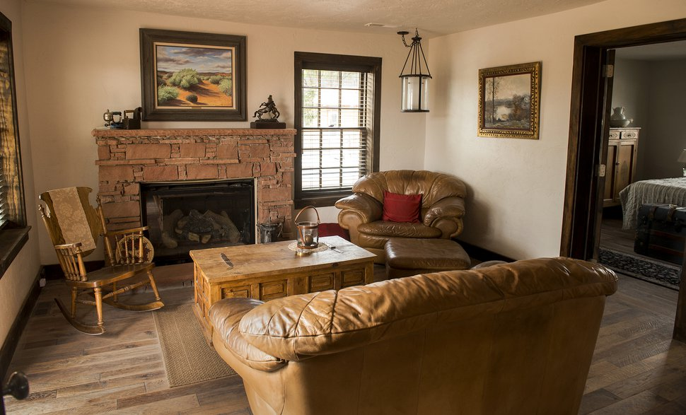 (Leah Hogsten | The Salt Lake Tribune) The original 16-by-16-foot recently remodeled room of the 1886 cabin.