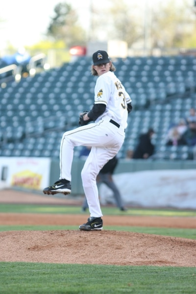 (Photo courtesy of the Salt Lake Bees) Jered Weaver dominated the Pacific Coast League in 2006 on his way to the Los Angeles Angels.