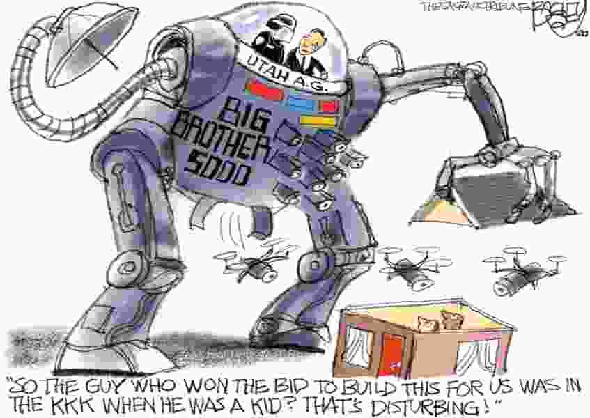 Bagley Cartoon: Big Brother Blues