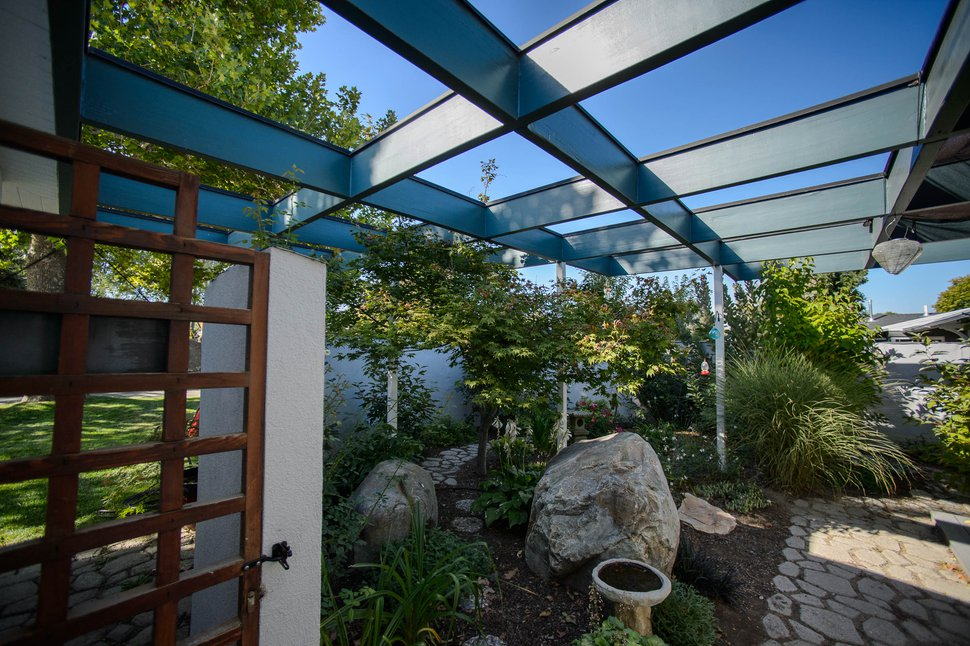 (Trent Nelson | The Salt Lake Tribune) Diana and Gerry Johnson's Holladay home is on the 2019 Salt Lake Modern Homes Tour. Preservation Utah is featuring five midcentury modern homes that were built in 1955 by architect Stephen Macdonald. The home was photographed on Thursday, Sept. 19, 2019.
