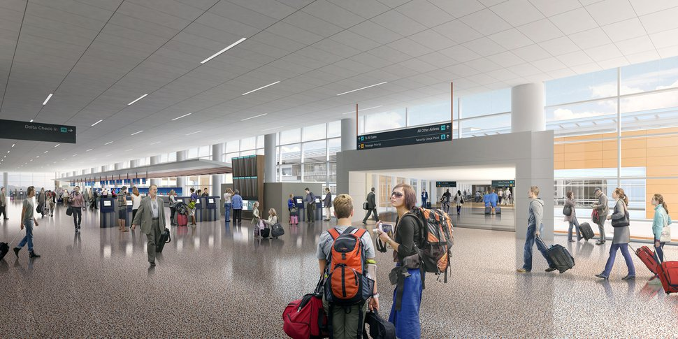 (Courtesy of Salt Lake City International Airport) A rendering of the airport's proposed