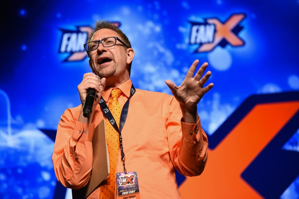 (Francisco Kjolseth | The Salt Lake Tribune) Chris Provost emcee's during the start of FanX Salt Lake Comic Convention at the Salt Palace in Salt Lake City Thursday, Sept. 6, 2018, during the three-day pop culture convention.