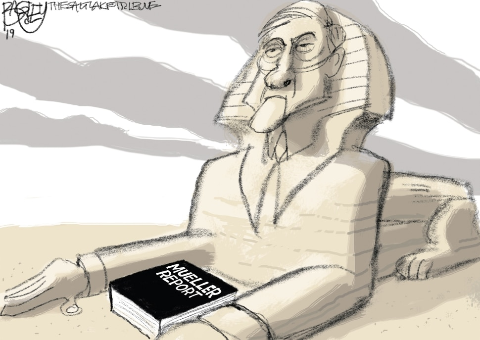 This Pat Bagley cartoon appears in The Salt Lake Tribune on Sunday, March 24, 2019.