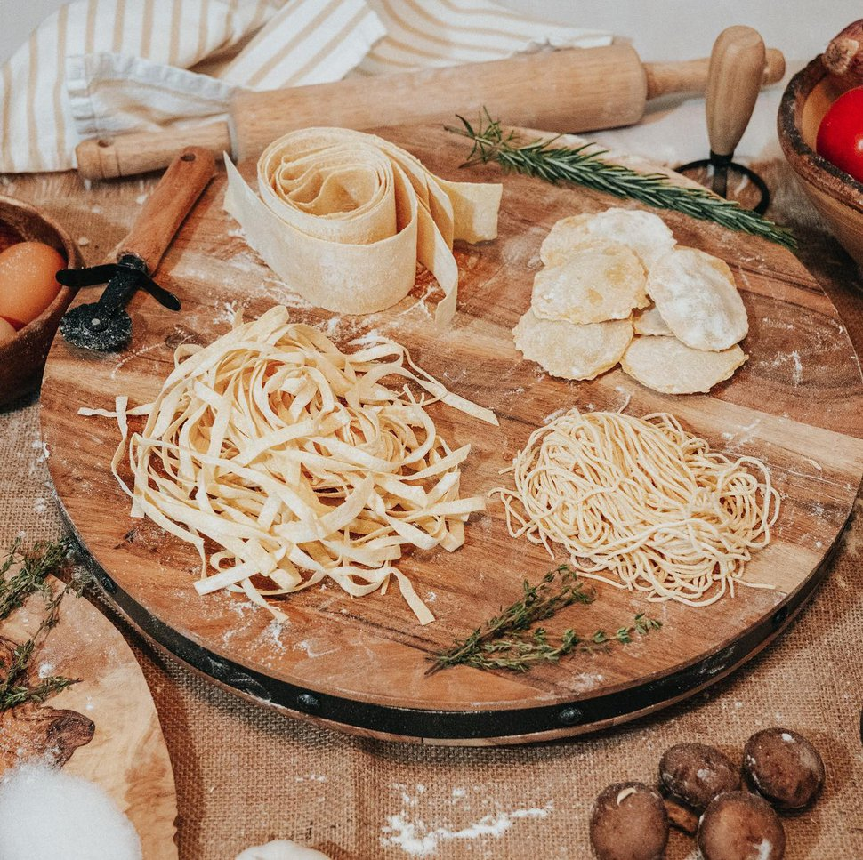 (Photo courtesy of A Mano Artisan Pastsa) A Mano Artisan pasta sells regular and gluten-free pastas in various shapes from long spaghetti and short farfalle to several versions of filled raviolis.