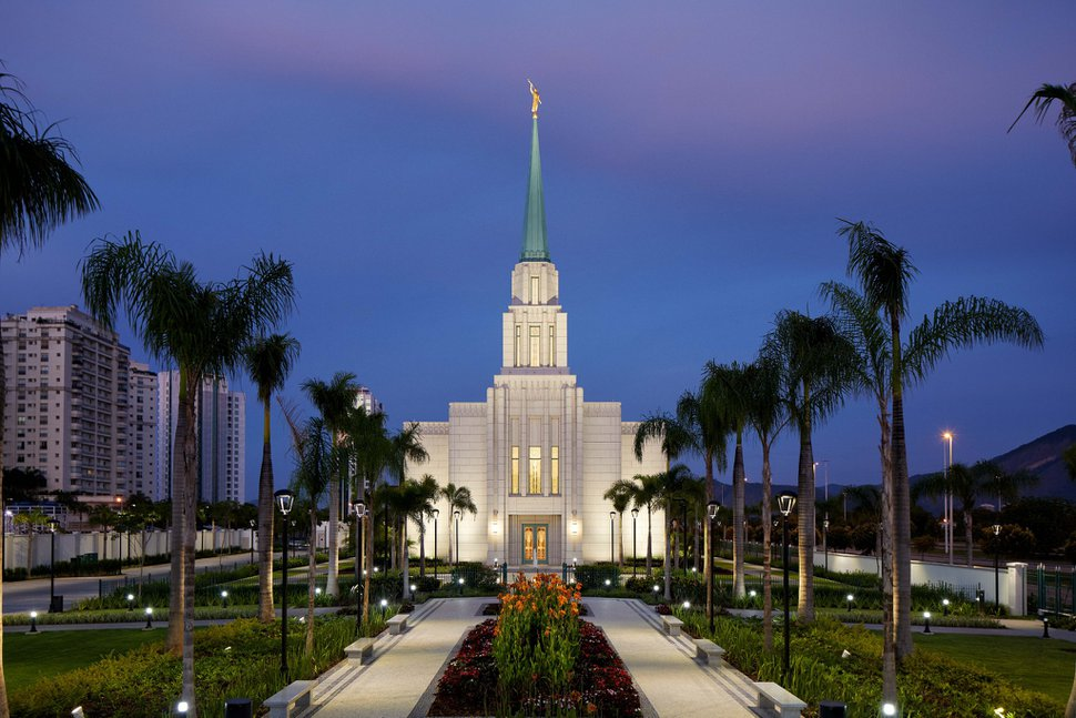 (Photo courtesy of The Church of Jesus Christ of Latter-day Saints) The Rio de Janeiro Temple in Brazil.