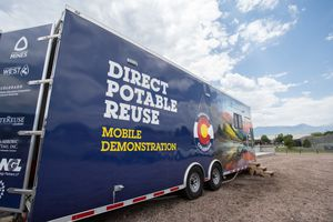 (Joe Del Nero | Colorado School of Mines) The PureWater mobile Lab created by a team of researchers at the Colorado School of Mines. The Lab recycles wastewater into high-quality drinking water.