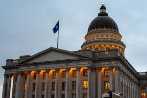 (Trent Nelson  |  Tribune file photo) This file photo shows an evening shot of the Utah State Capitol in Salt Lake City on Dec. 12, 2019, during the legislative special session on tax reform. The package was abruptly repealed a month later in the face of public uproar.