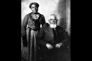 (Photo courtesy of Utah State Historical Society) Amanda Leggroan Chambers and Samuel D. Chambers.