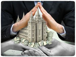 (Francisco Kjolseth  |  The Salt Lake Tribune) Wealthy members of The Church of Jesus Christ of Latter-day Saints have established charities through which they deliver their tithings and other donations to the church. The arrangement has delivered tens of millions of dollars to the church while helping the members avoid paying capital gains and other taxes. In many cases, records show, the charities' primary or sole function is to pay the LDS Church.  (Photo illustration by Francisco Kjolseth)    (FOR WEB ONLY)