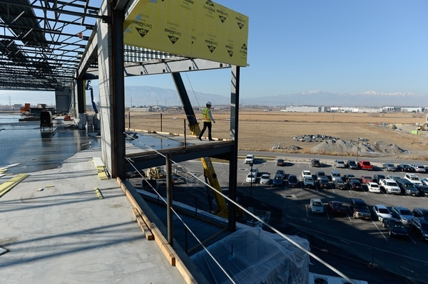 (Francisco Kjolseth | The Salt Lake Tribune) Newmark Grubb ACRES commercial estate is marketing a $200 million development west of the Pleasant Grove Boulevard freeway interchange. The mixed-use development in Lindon is expected to eventually include office and industrial space spread over 10 buildings, including a food court off Pleasant Grove Boulevard at 600 North.