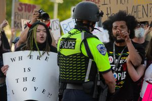 (Trent Nelson  |  The Salt Lake Tribune) Protesters march against police brutality in Salt Lake City on Tuesday, June 2, 2020.