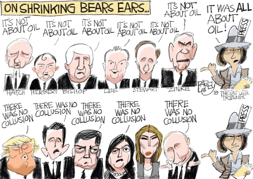 This Pat Bagley cartoon appears in The Salt Lake Tribune on Tuesday, March 6, 2018.
