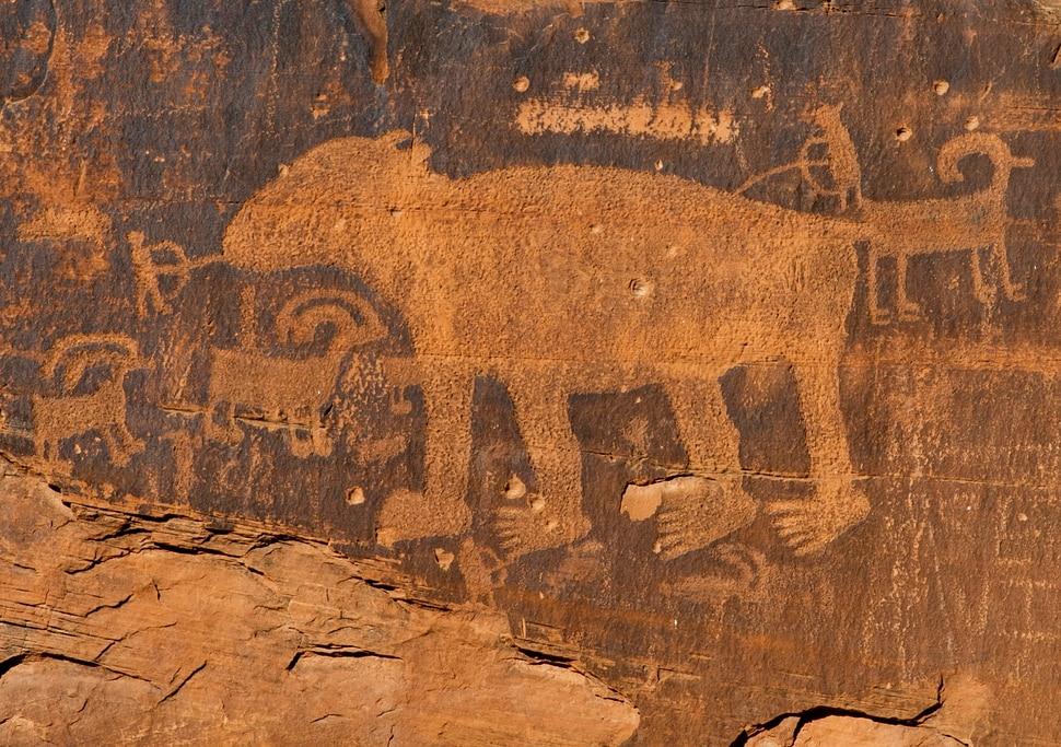 (Rick Egan | The Salt Lake Tribune) Rock art along the Potash Road near Moab, Wednesday, Jan. 15, 2020.
