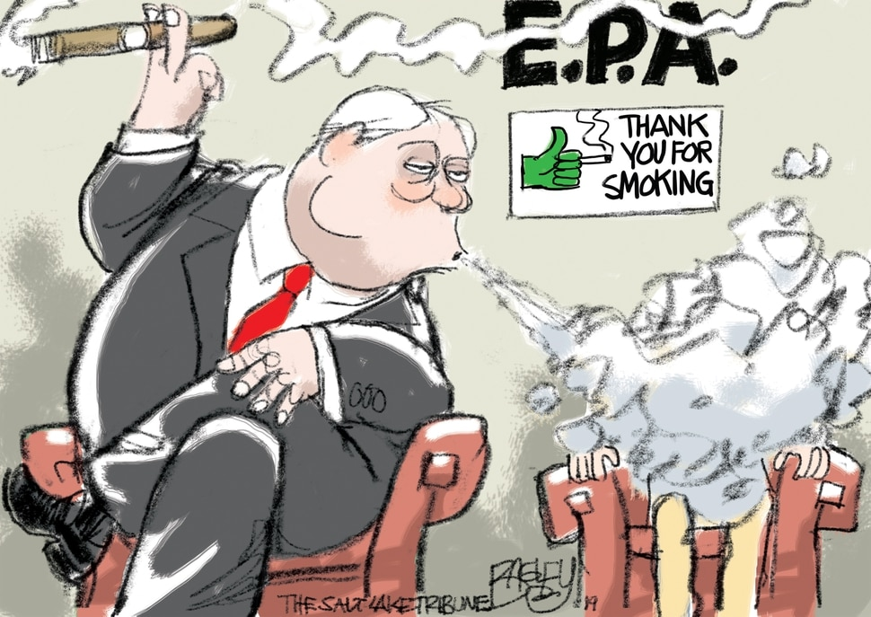 (Pat Bagley | The Salt Lake Tribune) This Pat Bagley cartoon, titled EPA Rules Change, appears in The Salt Lake Tribune on Friday, June 21, 2019.
