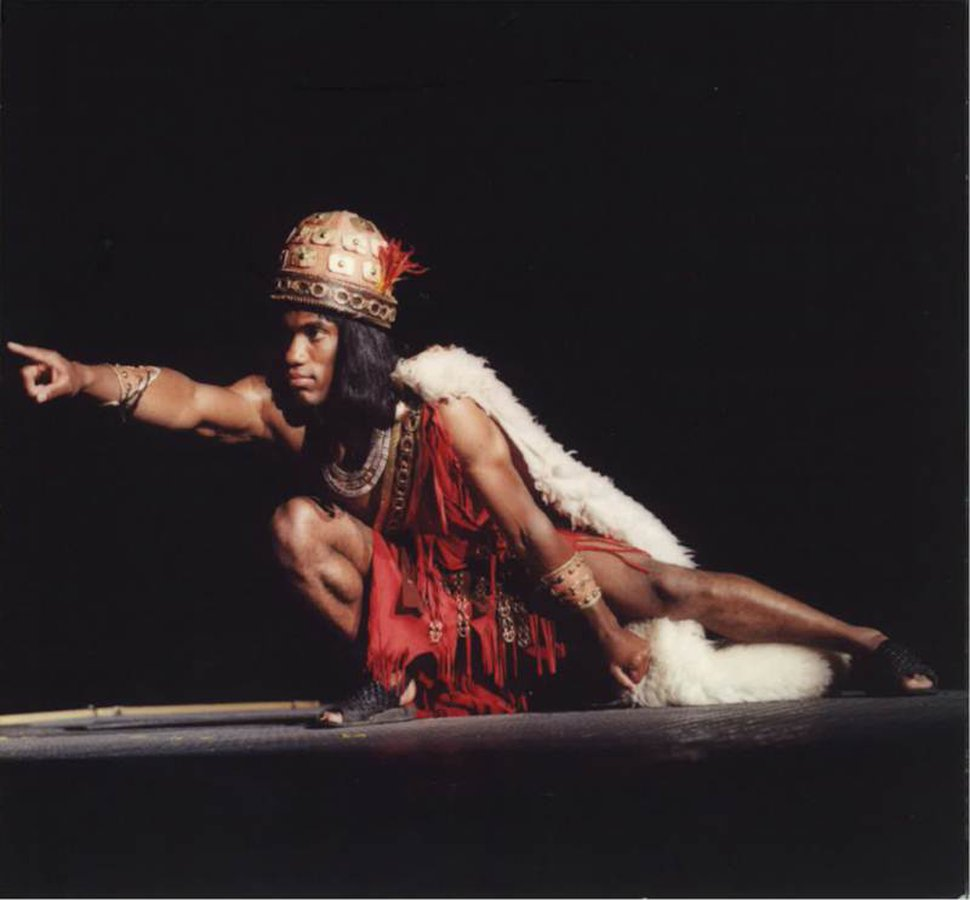 (Courtesy Rulon Simmons) Charles Bruce, athlete from Halifax, Nova Scotia, plays the role of Samuel the Lamanite in the Hill Cumorah Pageant in the 1990s.